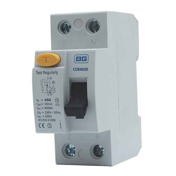 Parts: BG RCD 40-80A Type AC