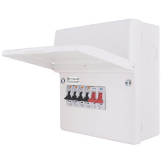 New Consumer Unit: Up to 4 Circuits (ET4)