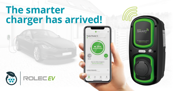 Rolec WallPod: HomeSmart electric vehicle charging point (OLEV)